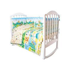 Комплект в кроватку 6 предметов Baby Nice, Гуси-Лебеди, желтый