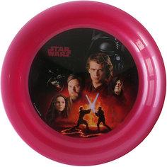 """Тарелка """"Звездные войны"""" (диаметр 19 см), Звездные войны, бордовый МФК профит"""