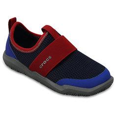 Кроссовки Kids Swiftwater Easy-On Shoes, черный, синий Crocs