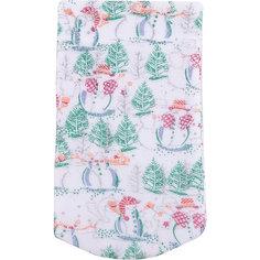 Мешок новогодний для подарков Снеговик и Елка 30*15 см арт.42537 из полиэстра Magic Time