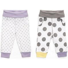 Трикотажные брюки: 2 шт. Happy Baby для девочки