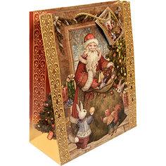 Бумажный пакет Мешок с подарками для сувенирной продукции , с ламинацией Magic Time