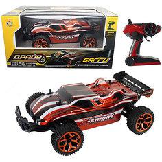 1toy Драйв, машина на р/у, 2,4GHz, 4WD, скорость до 20км/ч, свет, курковый пульт, с АКБ 700mAh Ni-CH, оранжевый