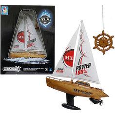 Лодка парусная на р/у, 39 см 1 Toy