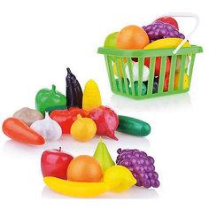 """Игровой набор Dohany """"Овощи и фрукты"""" в малой корзине, зелёный"""