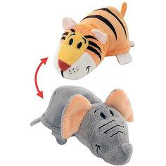 Мягкая игрушка-вывернушка 2 в 1 1Toy Тигр-Слон, 28 см