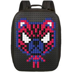 Пиксельный рюкзак большой (ортопедическая спинка) Upixel «Canvas classic pixel Backpack», черный