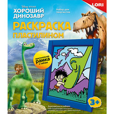"Картина из пластилина ""Хороший Динозавр"" Lori"