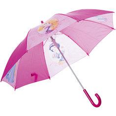 Зонт-трость 46 см, автоматический, фиолетовый, Disney Princess Детское время