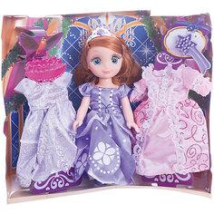 """Кукла """"Принцесса София"""", 15 см, озвученная с набором одежды, Карапуз"""