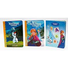 """Комплект книг Disney  """"Снежный друг Олаф, Холодное сердце,  Учим буквы"""" Проф Пресс"""