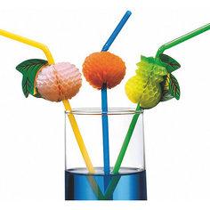 """Трубочки для коктейля """"Фрукты"""", 24 см, 10 шт Herlitz"""