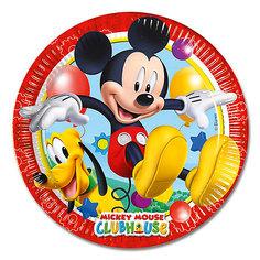 """Тарелки Procos """"Микки Маус"""" 20 см. ламинированные, 8 шт."""