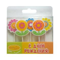 """Свечи для торта Патибум """"Цветы"""" 5 шт."""