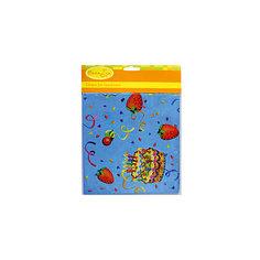"""Скатерть Патибум """"Праздничный торт"""" полиэтиленовая, 140х180 см."""