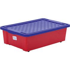 Ящик для хранения игрушек средний 30л, Little Angel, красный лего