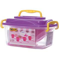 """Набор игрушечной посуды Полесье """"Алиса"""" 19 предметов на 4 персоны, в контейнере"""