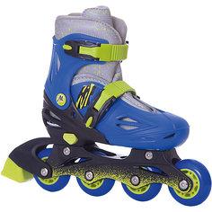 Раздвижные роликовые коньки Moby Kids 30-33, сине-зелёные