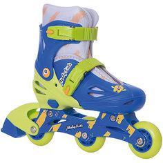 Раздвижные роликовые коньки 2 в 1 Moby Kids 30-33, сине-зелёные