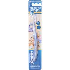 Детская зубная щетка Oral-B Stages  4-24 мес, голубо-синяя