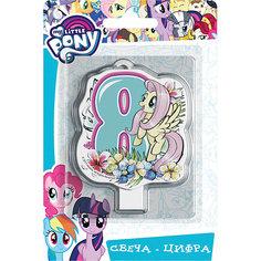 """Свеча для торта Росмэн """"My little Pony. Свеча-цифра 8"""""""