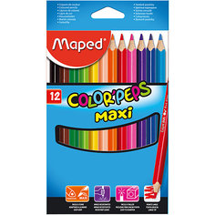 Набор цветных карандашей COLORPEPS MAXI, 12 цв. Maped