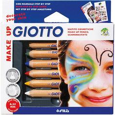 Набор карандашей для грима на восковой основе, 6 шт. Giotto