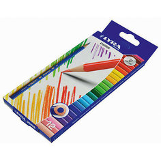 Цветные треугольные карандаши, 12 шт. Lyra