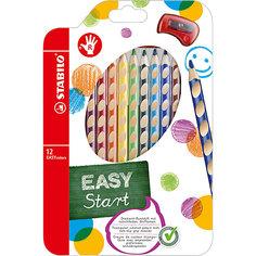 Набор цветных карандашей для правшей, 12 цв., EASYCOLORS Stabilo