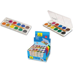 ADEL Акварельные краски в пластиковой коробке, 12 цветов. Адель