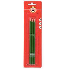 KOH-I-NOOR Набор карандашей чернографитных 1703/2, 3 шт., ластики 300/60, 2 шт.