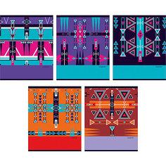 """Комплект тетрадей """"Графические узоры"""" (10 шт), 48 листов, Канц-Эксмо"""