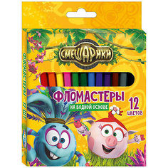 """Фломастеры """"Крош"""" 12 цветов, Смешарики Centrum"""