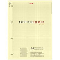 """Тетрадь 80л. А4 клетка на гребне """"Office Book"""", тонир. блок, выб. лак, перфорация на отрыв Hatber"""