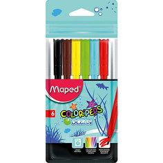 Фломастеры COLORPEPS OCEAN, 6 цветов, Maped