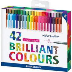 Набор капиллярных ручек Triplus, 42 цвета, яркие цвета, Staedtler