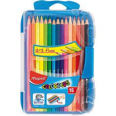 Набор цветных карандашей в пенале КАР COLORPEPS, 15 цв. Maped