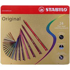 Набор цветных карандашей Stabilo original 24 цв, металл
