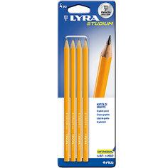 Чернографитные карандаши LYRA в блистере, 4 штуки