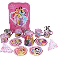 """Набор кофейной посуды """"Утро принцессы"""" (22 предм., металл.), Принцессы Дисней Disney"""