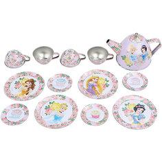 """Набор чайной посуды """"Королевское чаепитие"""" (14 предм., металл.), Принцессы Дисней Disney"""