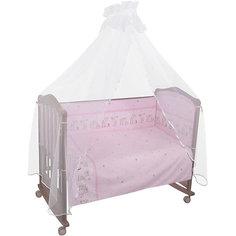 Бортик в кроватку Оленята, Сонный гномик, розовый Тайна снов