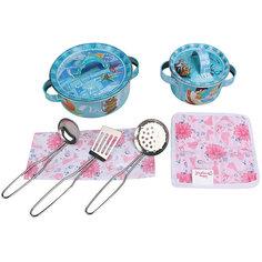 """Набор кухонной посуды """"Прекрасная принцесса"""" (9 предм., металл.), Принцессы Дисней Disney"""
