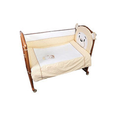 Детское постельное белье 3 предмета Сонный гномик, Умка, бежевый
