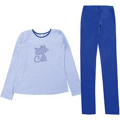 Комплект: футболка с длинным рукавом и брюки для девочки Scool S`Cool