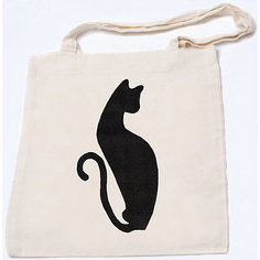 "Стигис-аппликация на эко-сумке ""Черная кошка"" Stigis"