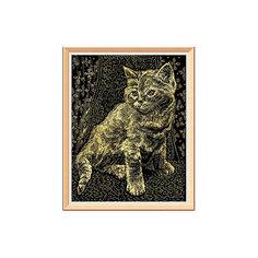 """Гравюра с эффектом золота """"Котёнок"""" Lori"""