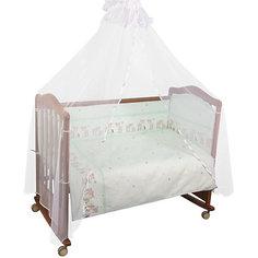 Бортик в кроватку Оленята, Сонный гномик, салатовый Тайна снов
