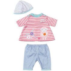 Одежда для куклы 36 см, my first Baby Annabell, в роз-белую полоску Zapf Creation