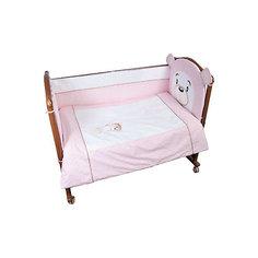 Детское постельное белье 3 предмета Сонный гномик, Умка, розовый